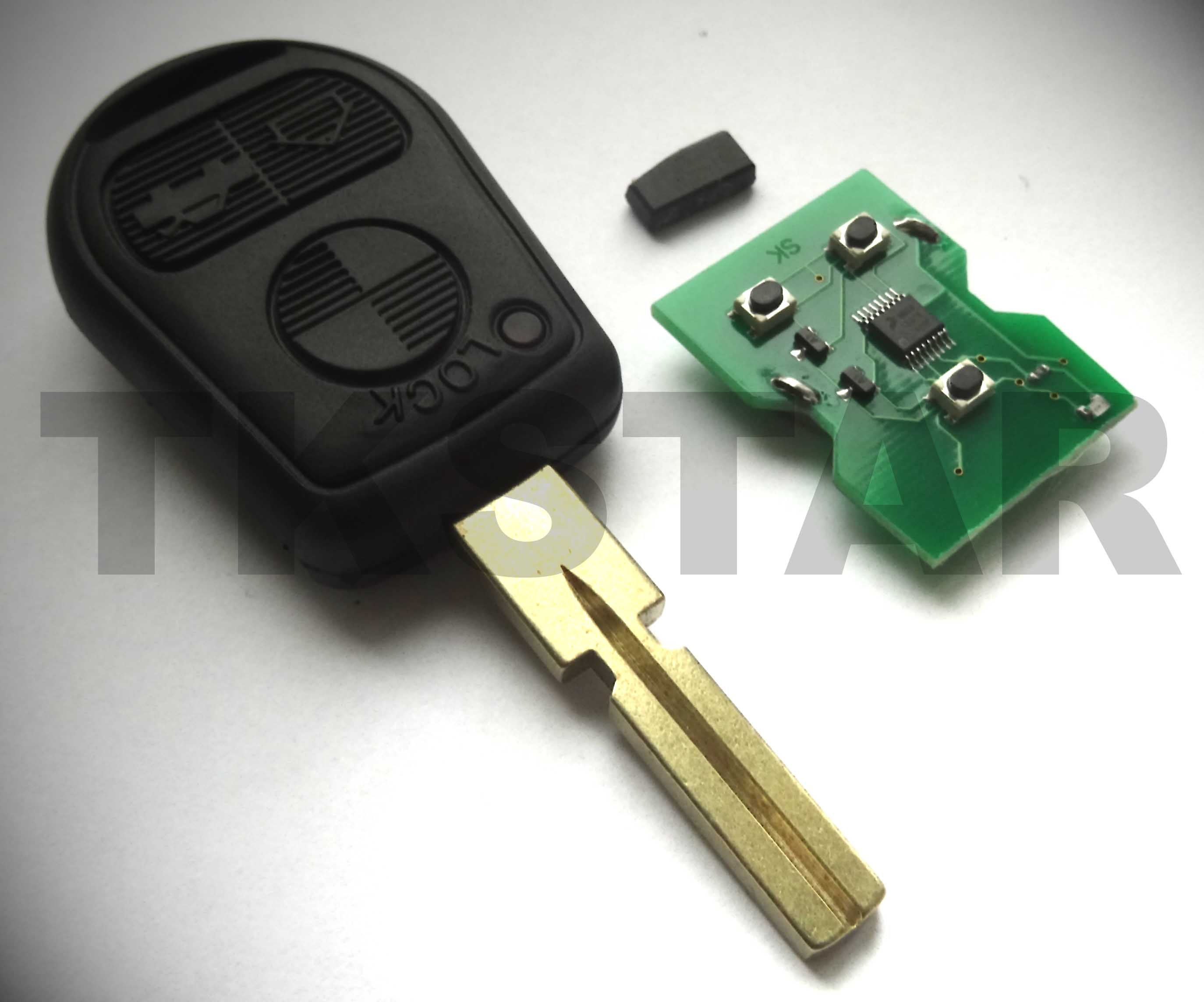 Auto Funk Schlüssel 434 MHz Fernbedienung HU92 passend für BMW E36 E38 E39 E46