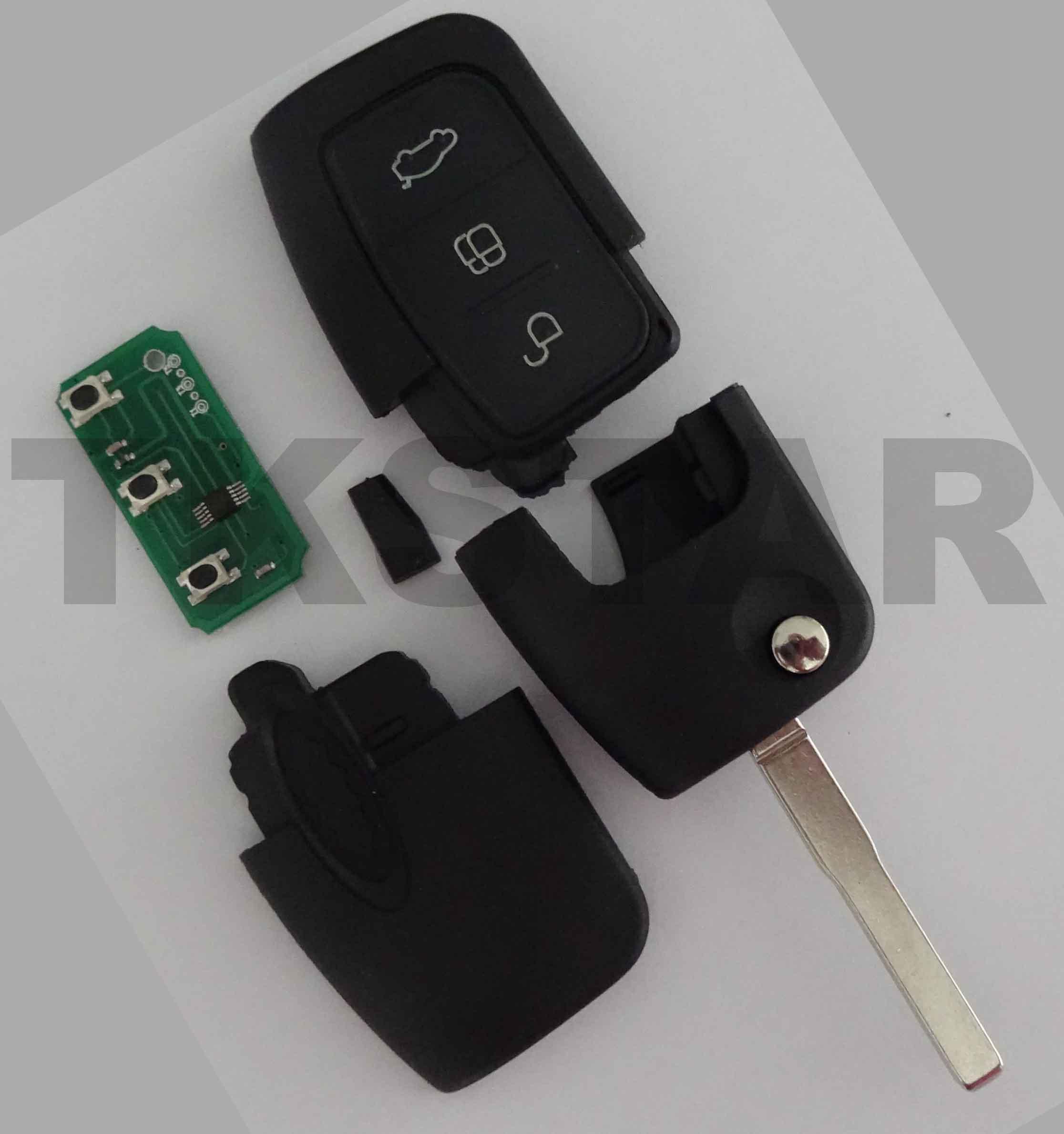 Schlüssel 433 MH Ford Gehäuse 4D63 Sendeeinheit Fiesta Mondeo Focus Rohling FO21
