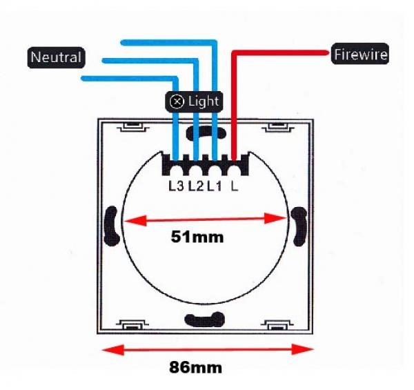 tkstar d itec smarthome funk touch led wandeinbau lichtschalter dimmer 230v hochvolt wei. Black Bedroom Furniture Sets. Home Design Ideas